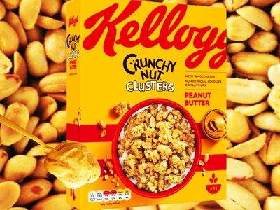 KELLOGGS CRUNCHYNUT PEANUT BUTTER 525 g