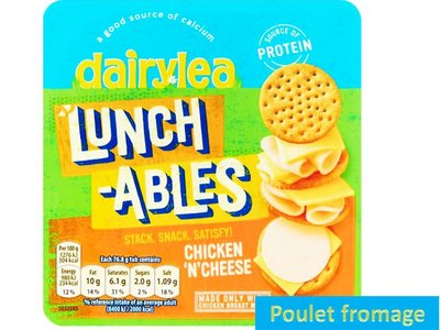 LUNCHABLE CHICKEN & CHEESE 77g