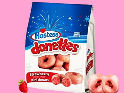 Hostess Limited Edition Glazed Strawberry Mini Donettes 284 g