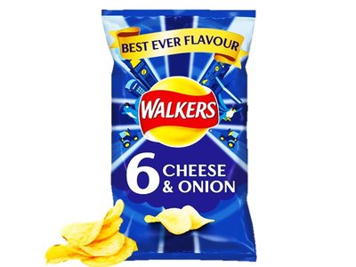 WALKERS CRISPS CHEESE & ONION 32.5 G