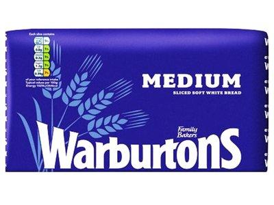 WARBURTONS WHITE MEDIUM SLICED 800 g
