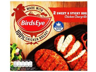 BIRDS EYE BBQ CHICKEN CHARGRILLS 2 pk 220 g
