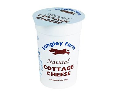 LONGLEY NATURAL COTTAGE CHEESE 125 g
