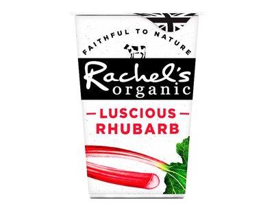 RACHELS ORG LOW FAT YOGHURT RHUBARB 450 g