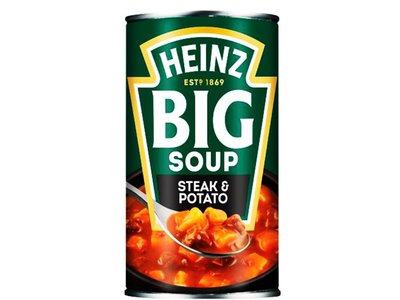 HEINZ BIG SOUP ANGUS STEAK & POTATO 500 G