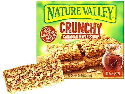 NATURES VALLEY CRUNCH BAR MAPLE SYRUP  5 x 42 g