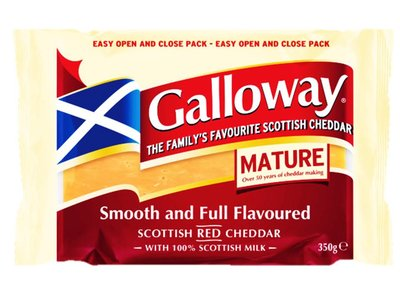 GALLOWAY MATURE CHEDDAR 350 G
