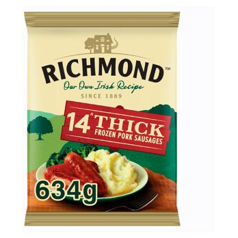 RICHMOND  Saucisses épaisses Irlandaises