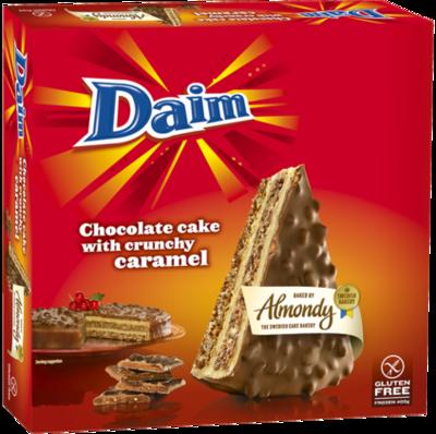 ALMONDY DAIM CHOC/CARAMEL CAKE sans gluten 400G