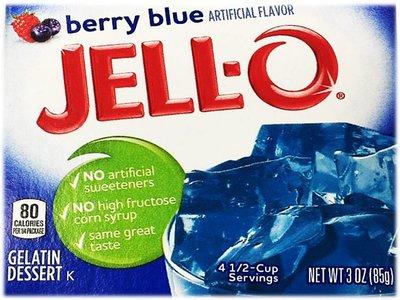 BERRY BLUE JELL-O - GELÉE DE FRUITS BLEU