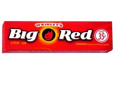 BIG RED CHEWING-GUM WRIGLEY