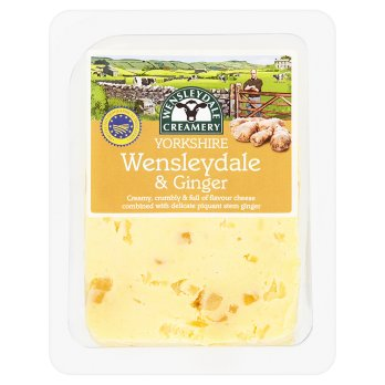 Creamerie du Yorkshire -fromage Wensleydale & Gingembre 180g