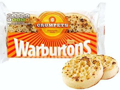 Warburtons Crumpets 6 par paquet (produit surgelé)