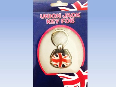 UNION JACK PORTE CLEF METAL OVAL