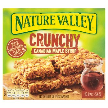 Nature Valley Crunchy barre au sirop d'érable Canadien 5 x 42g (210g)
