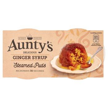 Aunty's Delicieux pudding au sirop de gingembre cuit à la vapeur 2 x 95g