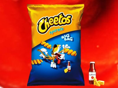Frito Lay Cheetos Cheese & Ketchup Spirals 80g