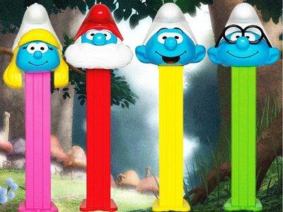 PEZ Smurfs Candy & Dispenser Poly Packs